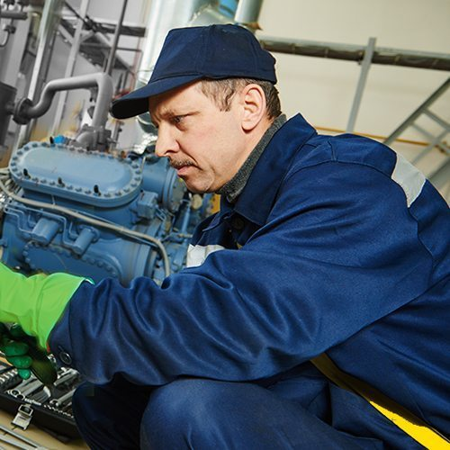 Picture Of Worker Performing Industrial Clutch Repair & Rebuilding Services - BCN Technical Services