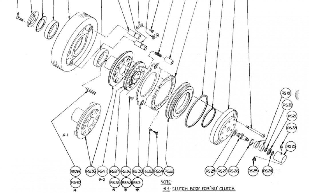 R Air Friction Clutch Model 14