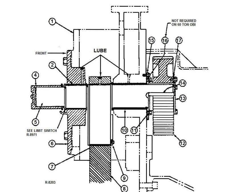 Clearing 22 Ton OBI Press – Ensamblaje principal